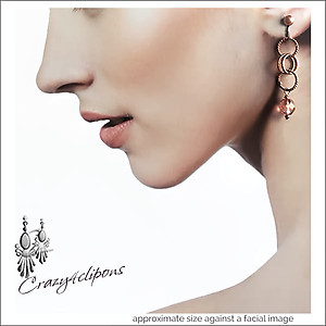 Mini Copper Hoops & Glass Beads | Your choice:  Pierced or Clips