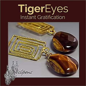 Rustic & Ethnic Earrings W/tiger-eye Beads | Your choice:  Pierced or Clips