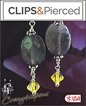 Sophisticated Labradorite & Crystal Earrings | Your choice: Pierced or Clips