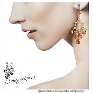 Fiery Nights Summer Earrings| Pierced & Clip Ons