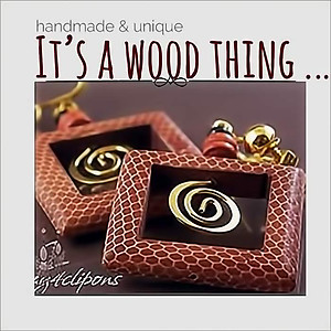 Artsy, Square & Bohemian Wood Earrings | Your choice:  Pierced or Clips