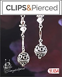 Sterling Silver Dangling Earrings | Your choice:  Pierced or Clips