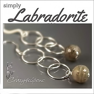 Elegant Labradorite Dangling Earrings | Your choice: Pierced or Clips