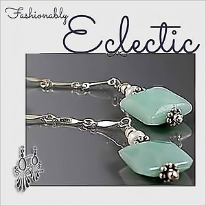 Amazonite, Pearls & Silver Earrings | Your choice: Pierced or Clips