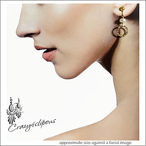 Small Gold Hoops Earrings | Your choice:  Pierced or Clips