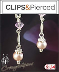 Petite Dangling Pearl Earrings | Pierced & Clips