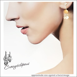 Aventurine Dangling Earrings | Your choice:  Pierced or Clips
