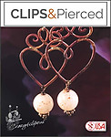 Romantic Artisan Antique Copper Hearts | Your choice: Pierced or Clips