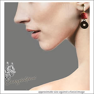 Lucky Chinese Coins & Charms Earrings | Your choice:  Pierced or Clips