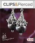 Princess Pearls Earrings | Your choice: Pierced or Clips