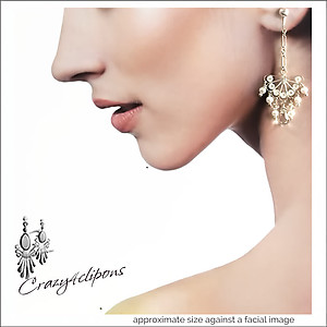 For Brides:  Sterling & Pearls Earrings | Your choice:  Pierced or Clips