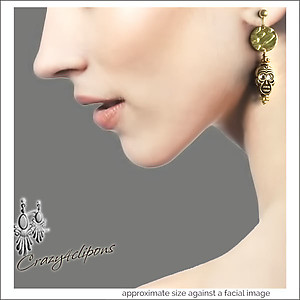 Golden Doom Skull Earrings | Your choice:  Pierced or Clips