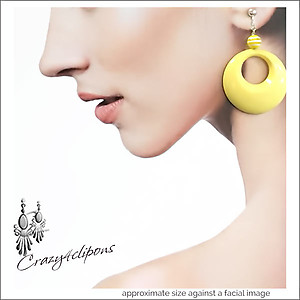 Mellow Yellow Summer Hoop Earrings | Your choice:  Pierced or Clips