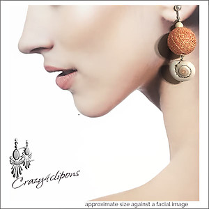 Bold, Oversized Raffia Beads | Your choice:  Pierced or Clips
