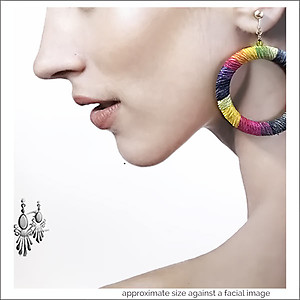 Dramatic. Fun Tie Dye Hoop Earrings | Your choice:  Pierced or Clips