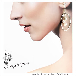 Pierced & Clip Earrings: Hoops W/ Pearls