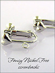 Clip Earrings Findings: Fancy Nickel Free Screw Back Parts