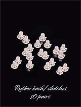 Clear Rubber Stopper Clutches For Pierced Earrings
