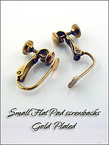 Clip Earrings Findings: Front Pad Screw Back parts