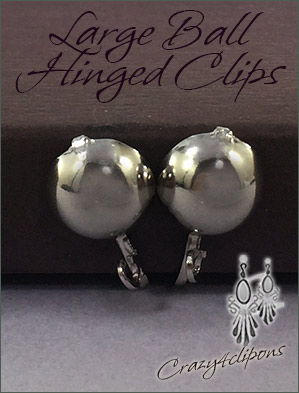 Clip Earrings Findings: Large Hinged Parts