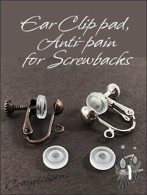 Clip Screwbacks Pads Cushions 5 Prs
