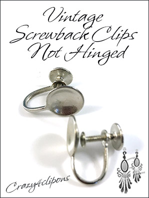Vintage Screwback Clip Earrings Findings