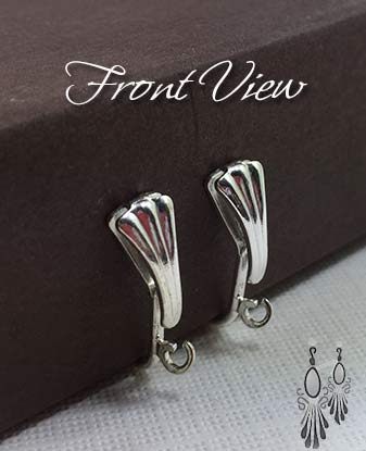 Top Shell, Nickel Free, Screw Back Clip Earring Findings
