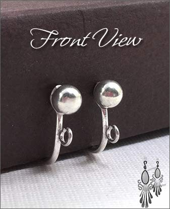Clip Earrings Findings : Sterling Silver Components