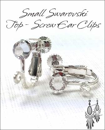 Clip Earrings Findings: With Swarovski