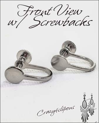 Clip Earrings Findings: Small Parts w/ Screws backs