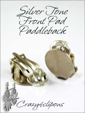 Clip Earrings Findings: Front Pad 13mm Paddle Back Parts