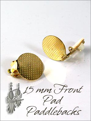 Clip Earrings Findings: Front Pads Paddle Back Parts