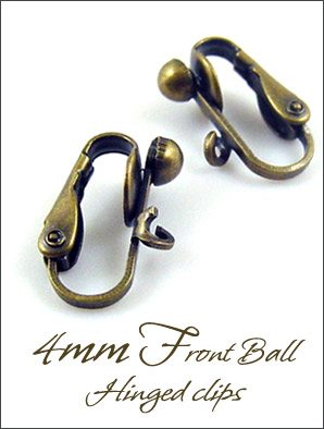 Clip Earrings Findings: Antiqued Brass Components