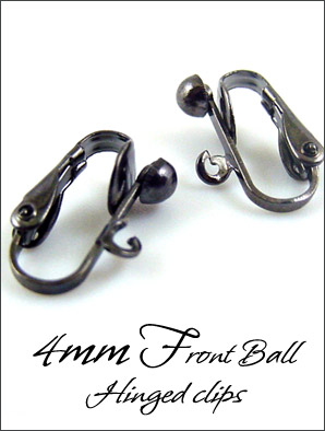 Clip Earrings Findings: Black Gunmetal Hinged Parts
