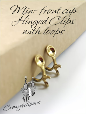Mini Gold Clip Findings Hinged - For Adults