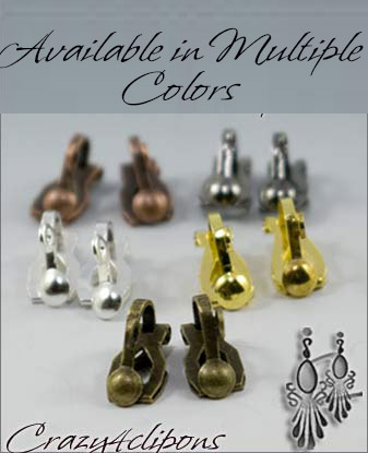 Clip Earrings Findings: XSmall Paddle back For Adults - many colors