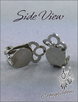 Clip Earrings Findings: 8mm Paddle Back - Nickel Free