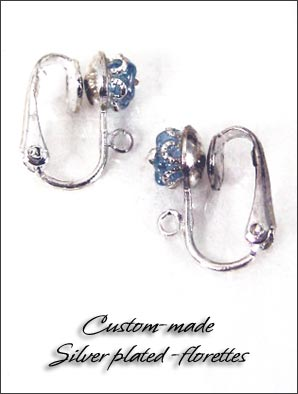 Clip Earrings Findings: Custom Made Flower Hinged