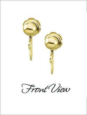 Clip Earrings Findings: Gold Filled Screw Backs
