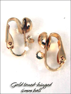 Clip Earrings Findings: Silver/Gold Tone | 3 pairs