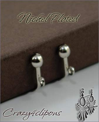 Clip Earrings Findings: Nickel Plated Screw back Parts