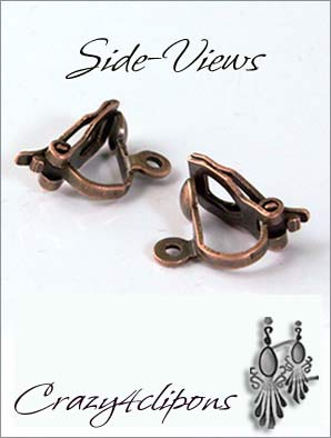 Clip Earrings Findings: Small Paddle back Mixed metals