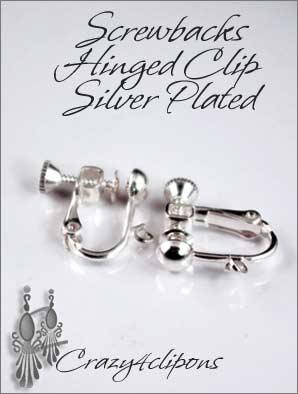 Clip Earrings Findings Silver Gold Backs