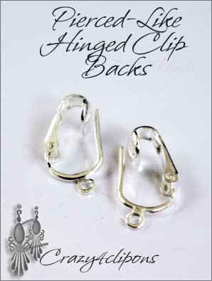 Clip Earrings Findings: Pierced-like Plated Parts