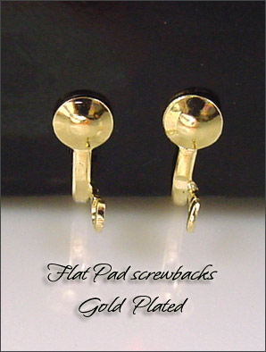 Clip Earrings Findings: Small Screw Back s & Parts