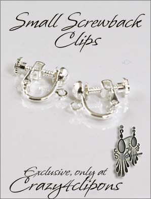 Clip Earrings Findings: Small Screw back Clip Screw Parts