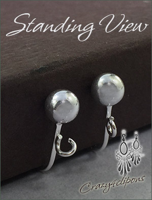 Clip Earrings Findings: Sterling Silver Components