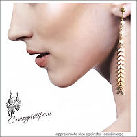 Sublime and Elegant. Long Clip On Earrings