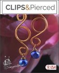 Artisan Copper Swirls & Pearl Earrings | Your choice: Pierced or Clips