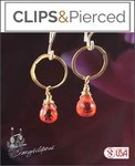 Mini Hoop Earrings w/ Crystals | Your choice:  Pierced or Clips